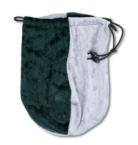 dice bag green silver