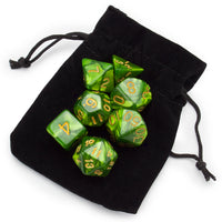 Jade Oil dice and bag