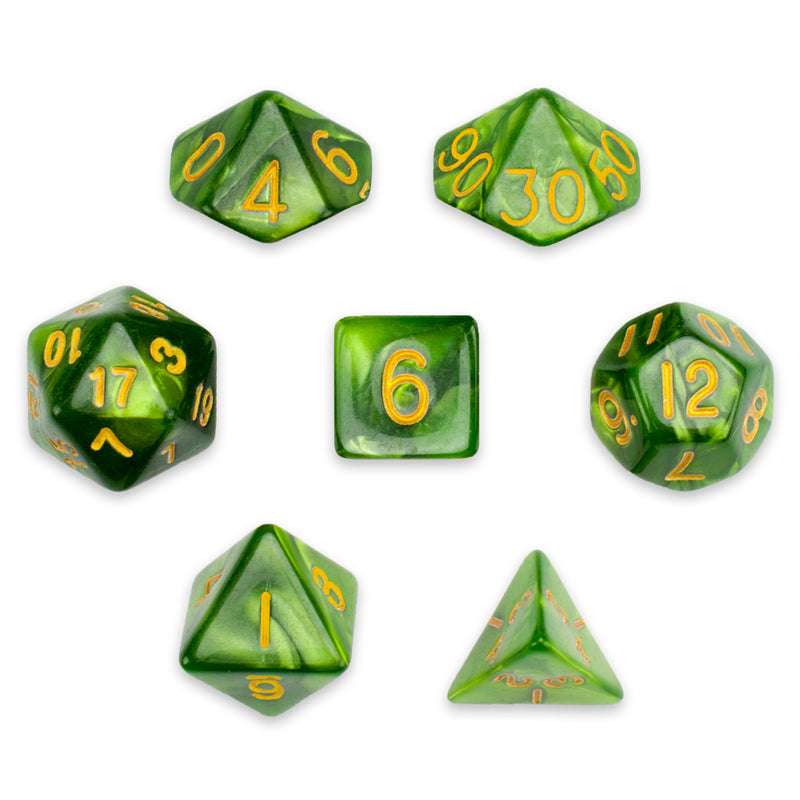 RPG dice jade oil