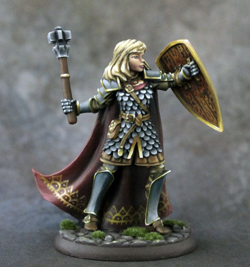 D&D Miniature Female Cleric