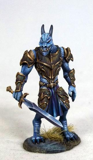 D&D Miniatures Dragonborn Paladin Fighter