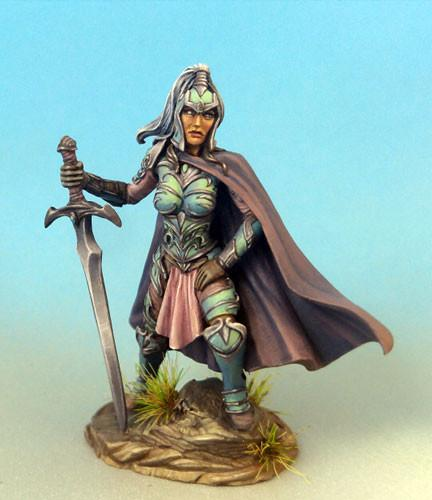 RPG Miniatures Female Fighter With Sword