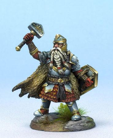 Dark Sword Miniatures DSM7475 Dwarf Cleric With Warhammer