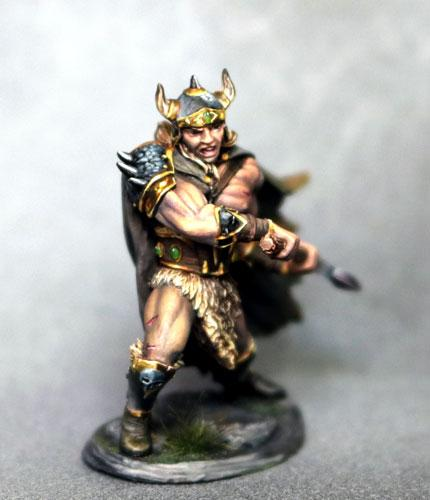 D&D Miniatures Barbarian With Battle Axe