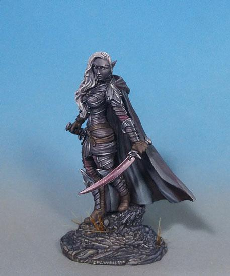 D&D Miniatures Dark Elf Fighter