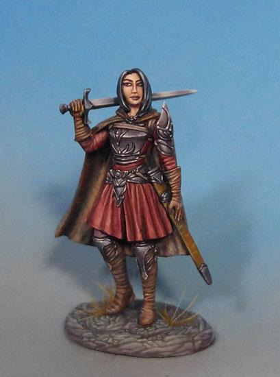 D&D Miniatures Female Fighter