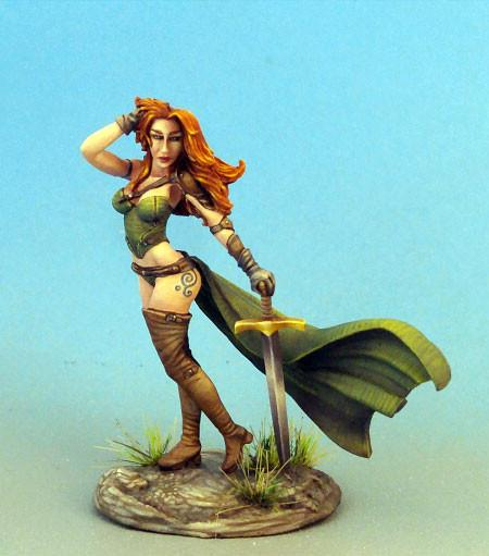 RPG Miniatures Cool Female Fighter