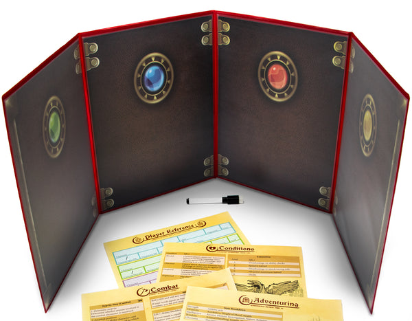 The Master's Tome Customizable DM Screen (Red)