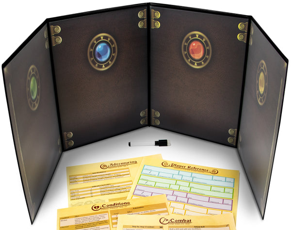The Master's Tome Customizable DM Screen (Black)