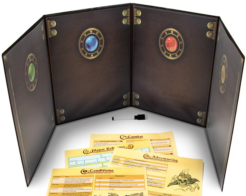 The Master's Tome Customizable DM Screen (Brown)