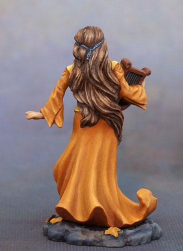 Dark Sword Miniatures Dsm7635 Female Bard With Harp 28mm