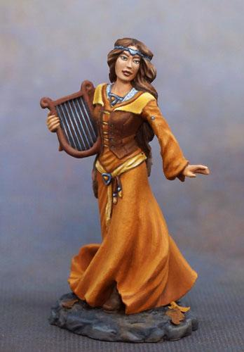 Dark Sword Miniatures Female Bard With Harp