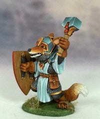 Dark Sword Miniatures Fox Cleric With Mace