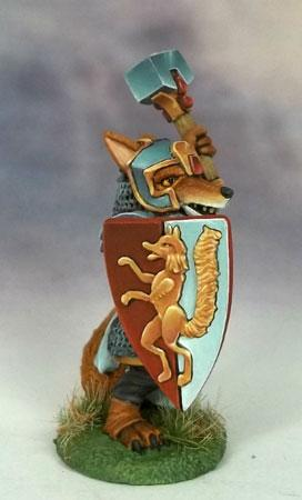 DSM8021 Kitsune Fox Cleric With Mace