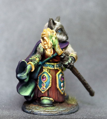 Dark Sword Miniatures DSM8113 Catfolk Wizard With Staff