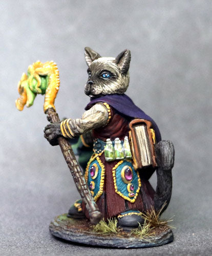 DSM8113 Catfolk Wizard With Staff