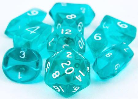 Translucent Hybrid Dice Teal