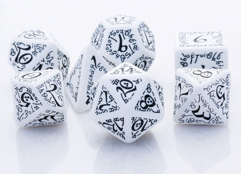 Elven Dice White