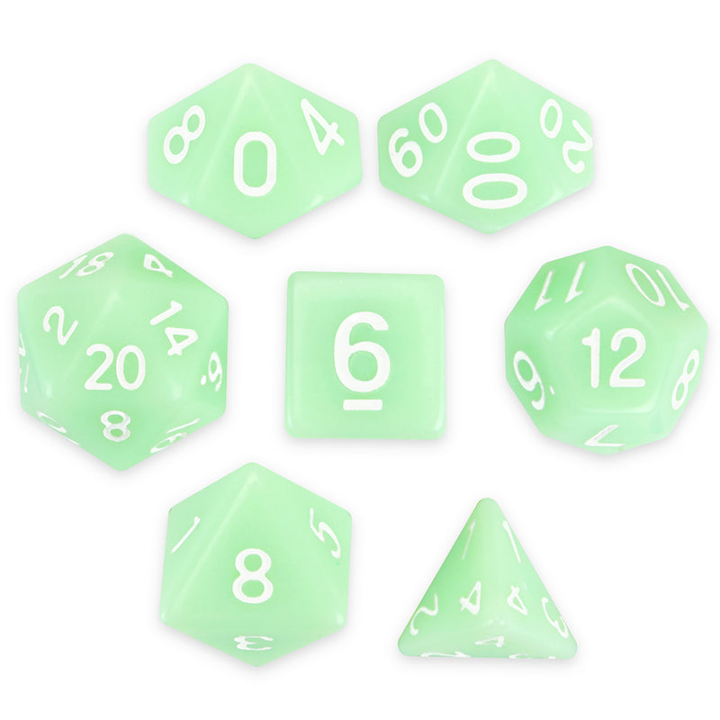 D&D Ghost Jade Dice