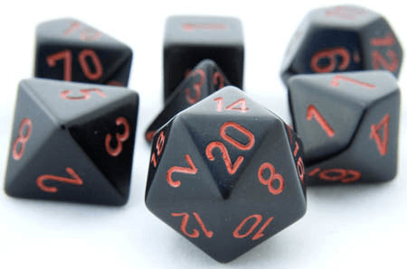 Opaque Dice Black Red
