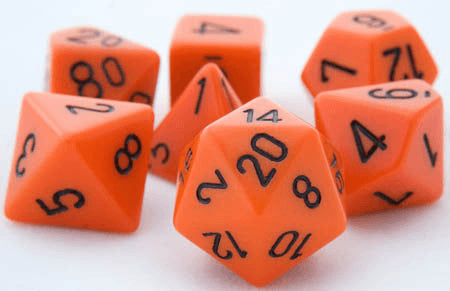 Opaque Dice Orange