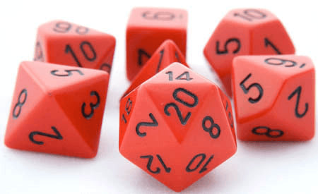 Opaque Dice Red Black