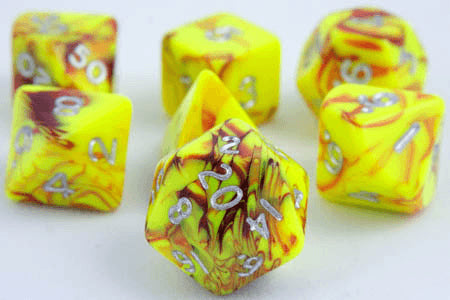 Toxic Dice Yellow Red
