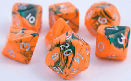 Toxic Dice Orange Green