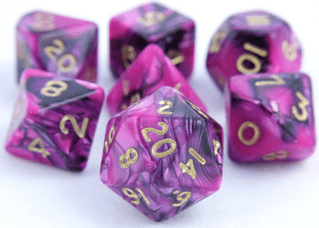 Toxic Dice Pink Black
