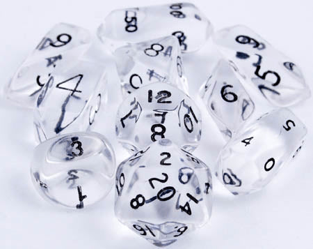 Translucent Hybrid Dice Clear