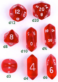 Hybrid Crystal Dice Red