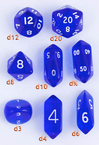 Hybrid Crystal Dice Blue
