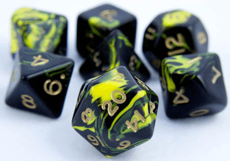 Oblivion Dice Yellow