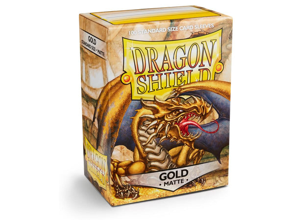 Dragon Shield Card Sleeves Matte Gold