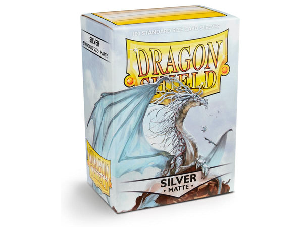 Dragon Shield Card Sleeves Matte Silver