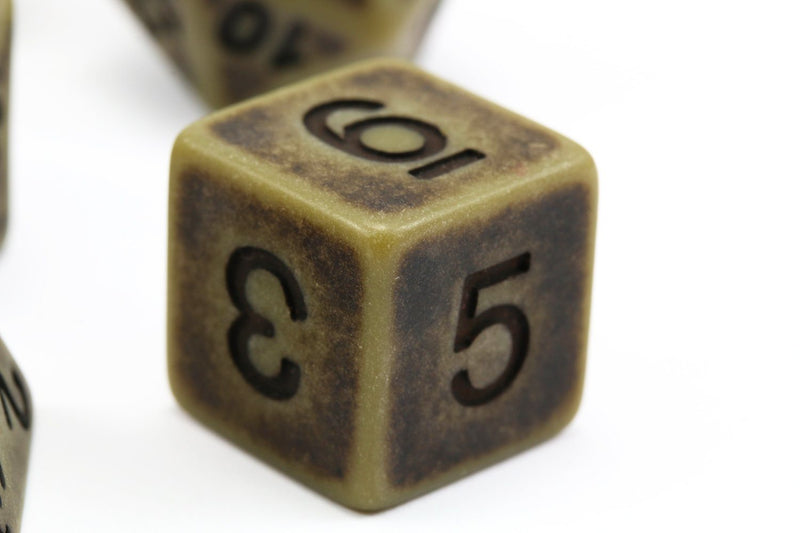 Ancient Dice Cyan d6