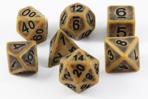Ancient D&D Dice Gold