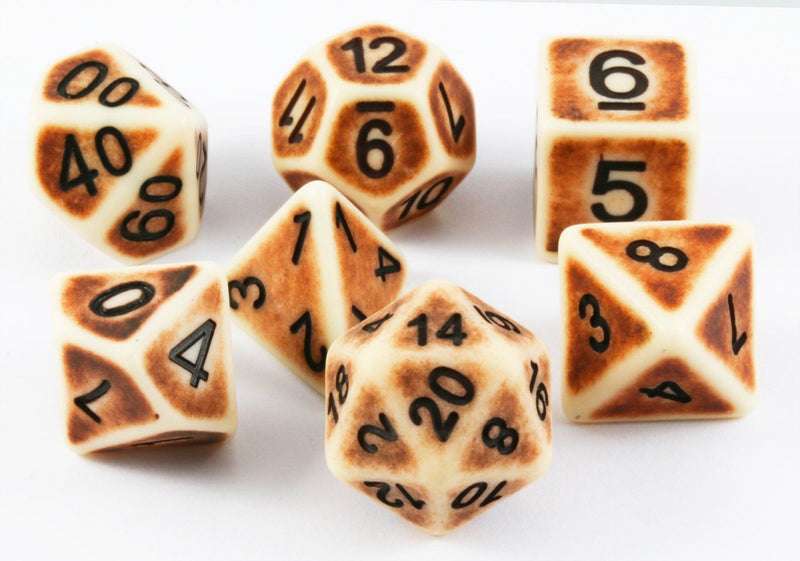 Ancient D&D Dice Ivory