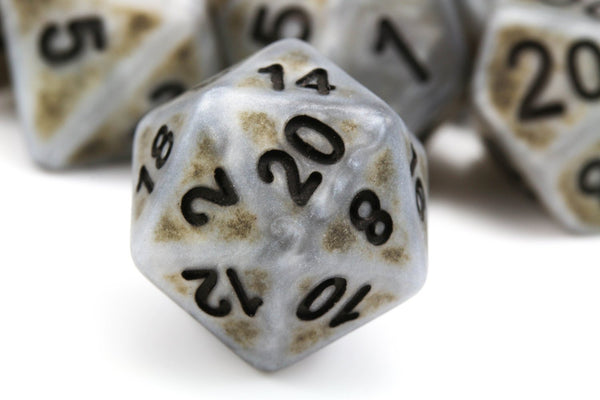 Ancient Dice Silver Rpg Role Playing Game Dice Set