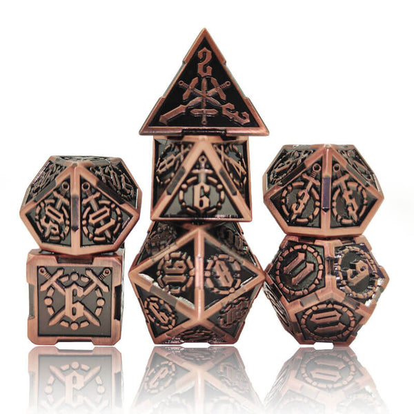 Metal DnD Dice Swordmaster Copper