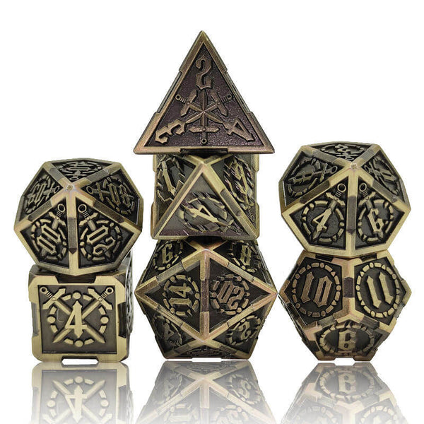 Metal Sword Dice Bronze