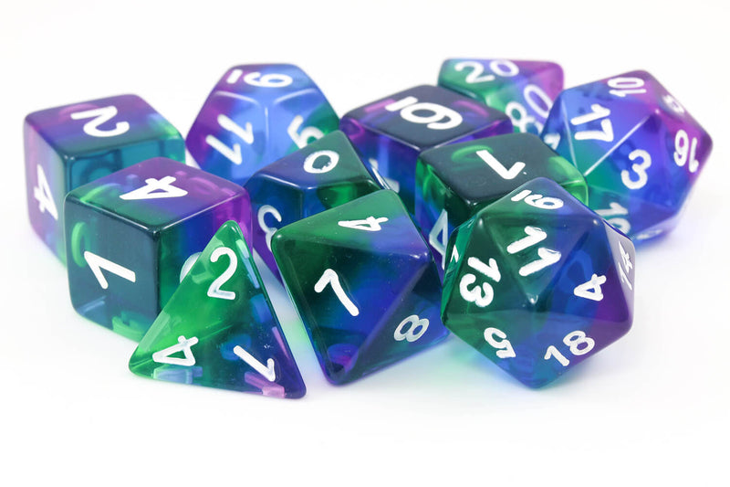 RPG Dice Aurora Dice 11 piece set