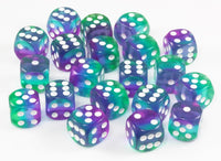 Aurora Dice (Blue) | 20 X D6 Mini Dice Set, 12mm