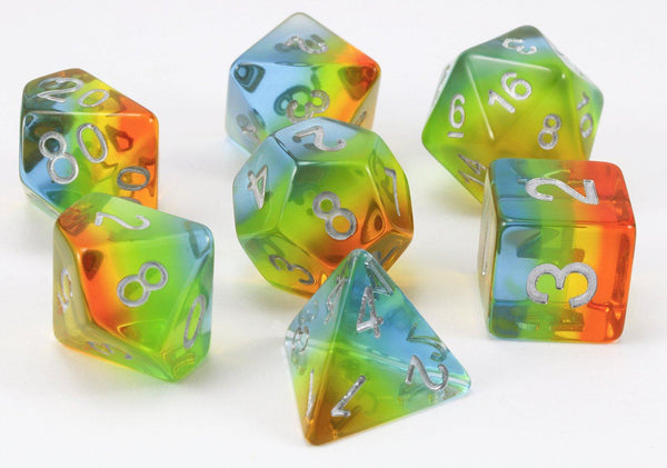 D&D Dice Aurora Yellow