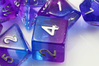 blue purple d6 dice