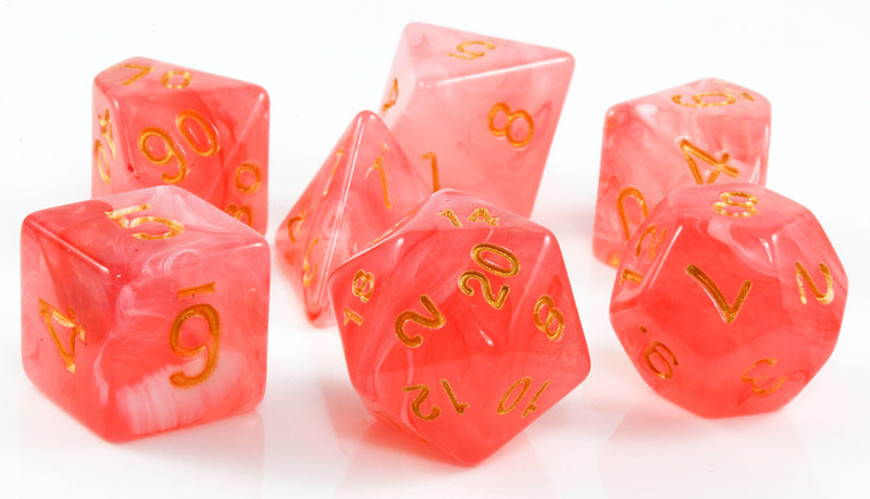 Red DnD banshee dice