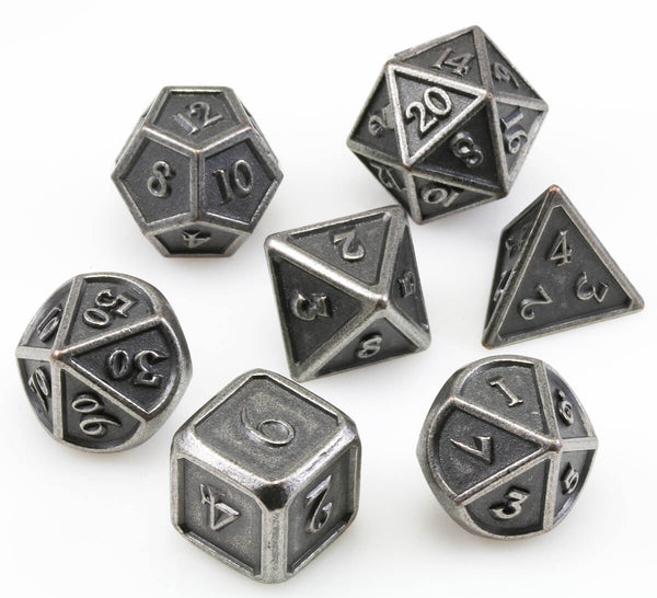 Berserker Dice Ancient Silver