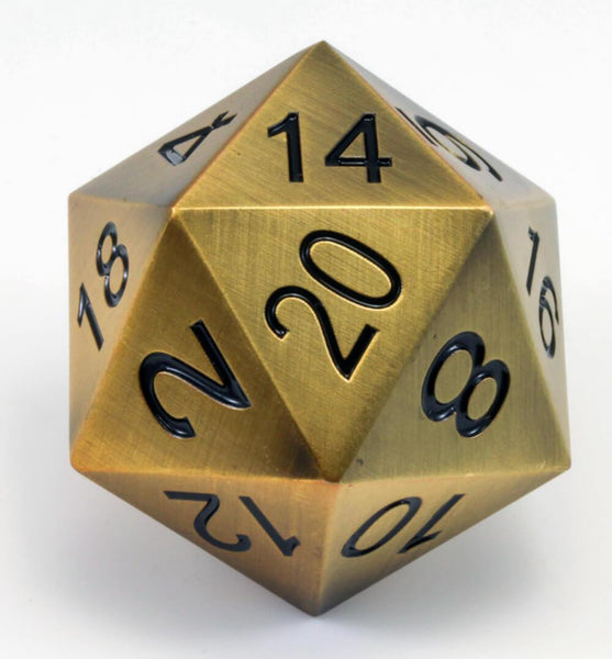 Berserker Giant D20 - Antique Gold