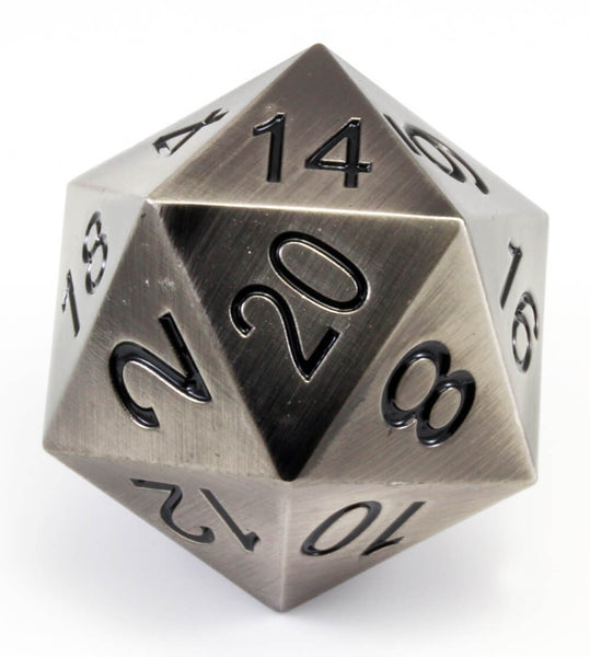 Berserker Giant D20 Antique Silver
