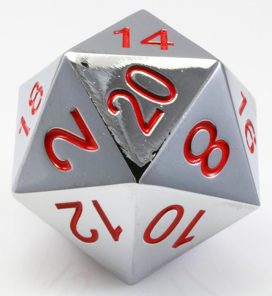 Giant d20 Silver and Red